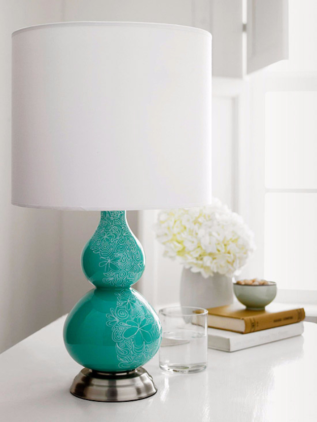 DIY Sharpie Crafts - Sharpie Lamp Base - Cool and Easy Craft Projects and DIY Ideas Using Sharpies - Use Markers To Decorate and Design Home Decor, Cool Homemade Gifts, T-Shirts, Shoes and Wall Art. Creative Project Tutorials for Teens, Kids and Adults http://diyjoy.com/diy-sharpie-crafts
