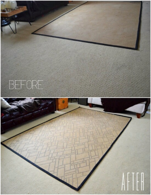 DIY Sharpie Crafts - Sharpie Rug - Cool and Easy Craft Projects and DIY Ideas Using Sharpies - Use Markers To Decorate and Design Home Decor, Cool Homemade Gifts, T-Shirts, Shoes and Wall Art. Creative Project Tutorials for Teens, Kids and Adults http://diyjoy.com/diy-sharpie-crafts