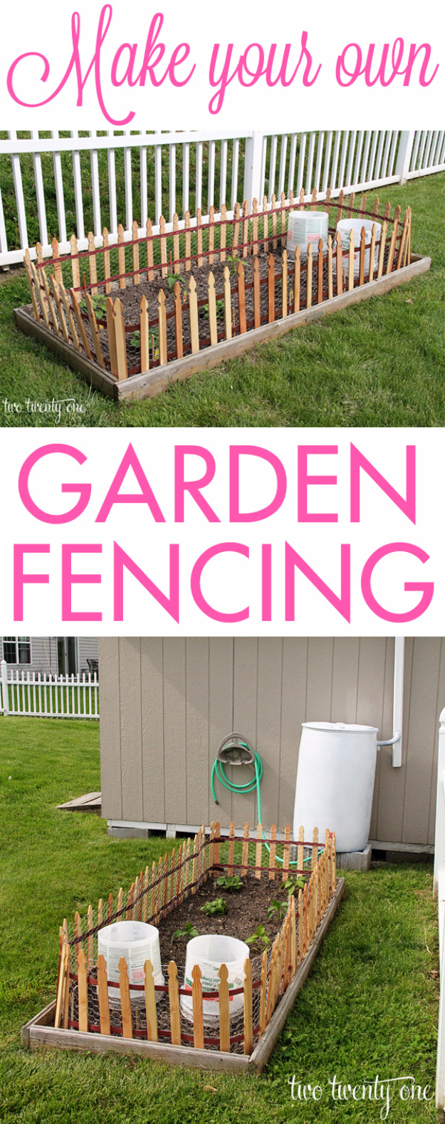 DIY Fences and Gates - Simple Garden Fence - How To Make Easy Fence and Gate Project for Backyard and Home - Step by Step Tutorial and Ideas for Painting, Updating and Making Fences and DIY Gate - Cool Outdoors and Yard Projects