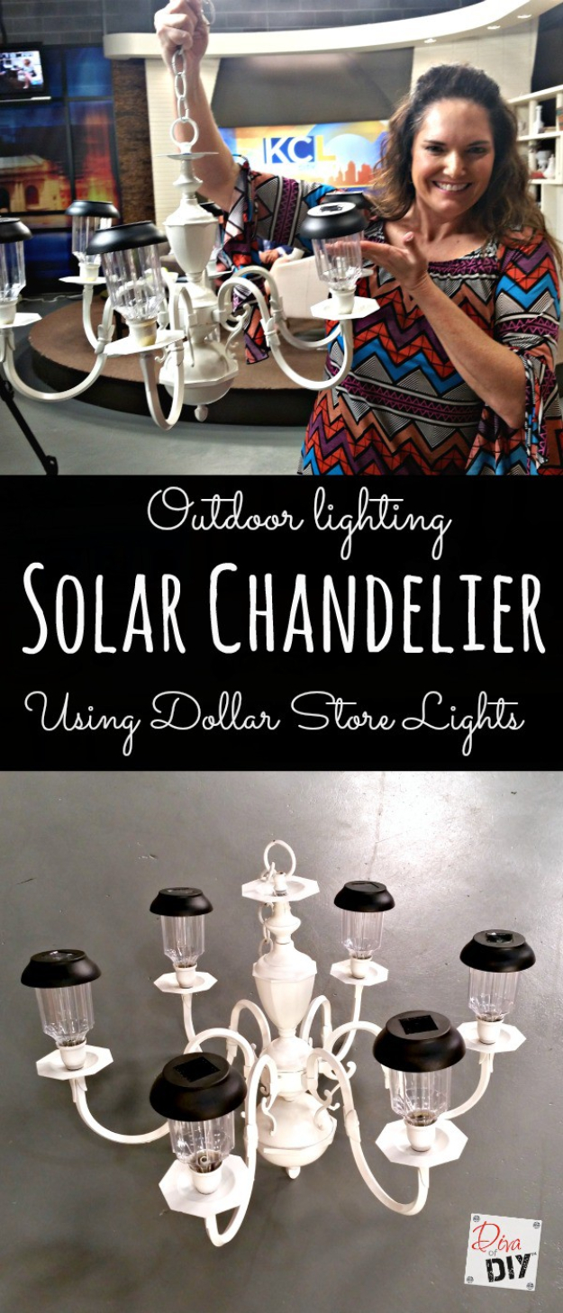 DIY Solar Powered Projects - Solar Chandelier - Easy Solar Crafts and DYI Ideas for Making Solar Power Things You Can Use To Save Energy - Step by Step Tutorials for Making Things Without Batteries - DIY Projects and Crafts for Men and Women