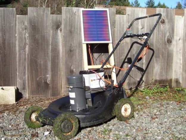 DIY Solar Powered Projects - Solar Charged Lawnmower - Easy Solar Crafts and DYI Ideas for Making Solar Power Things You Can Use To Save Energy - Step by Step Tutorials for Making Things Without Batteries - DIY Projects and Crafts for Men and Women