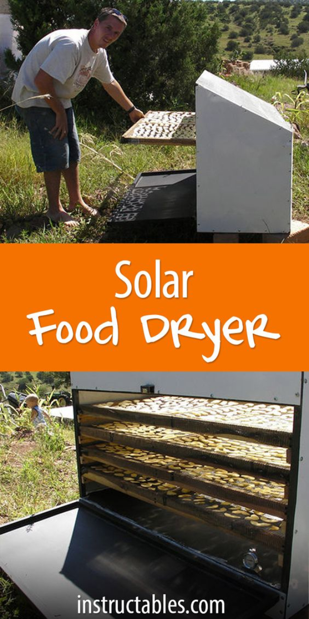 DIY Solar Powered Projects - Solar Food Dryer - Easy Solar Crafts and DYI Ideas for Making Solar Power Things You Can Use To Save Energy - Step by Step Tutorials for Making Things Without Batteries - DIY Projects and Crafts for Men and Women