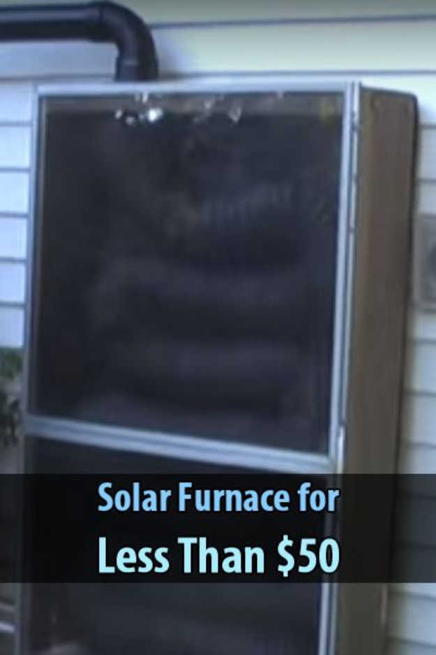 DIY Solar Powered Projects - Solar Furnace for Less Than $50 - Easy Solar Crafts and DYI Ideas for Making Solar Power Things You Can Use To Save Energy - Step by Step Tutorials for Making Things Without Batteries - DIY Projects and Crafts for Men and Women
