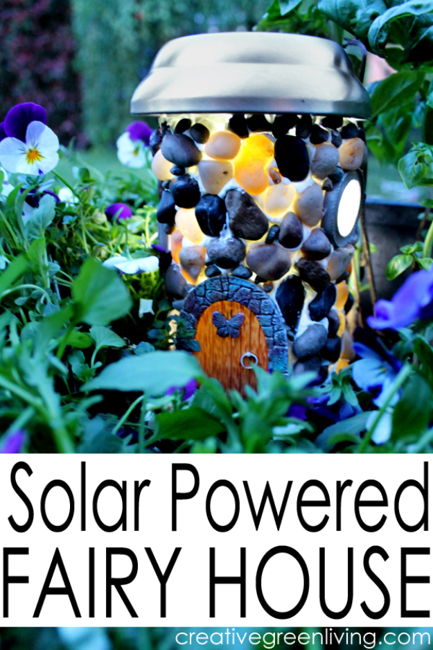 DIY Solar Powered Projects - Solar Powered Fairy House - Easy Solar Crafts and DYI Ideas for Making Solar Power Things You Can Use To Save Energy - Step by Step Tutorials for Making Things Without Batteries - DIY Projects and Crafts for Men and Women