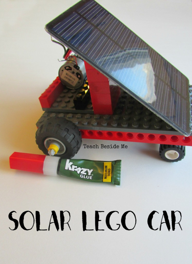 DIY Solar Powered Projects - Solar Powered Lego Car - Easy Solar Crafts and DYI Ideas for Making Solar Power Things You Can Use To Save Energy - Step by Step Tutorials for Making Things Without Batteries - DIY Projects and Crafts for Men and Women