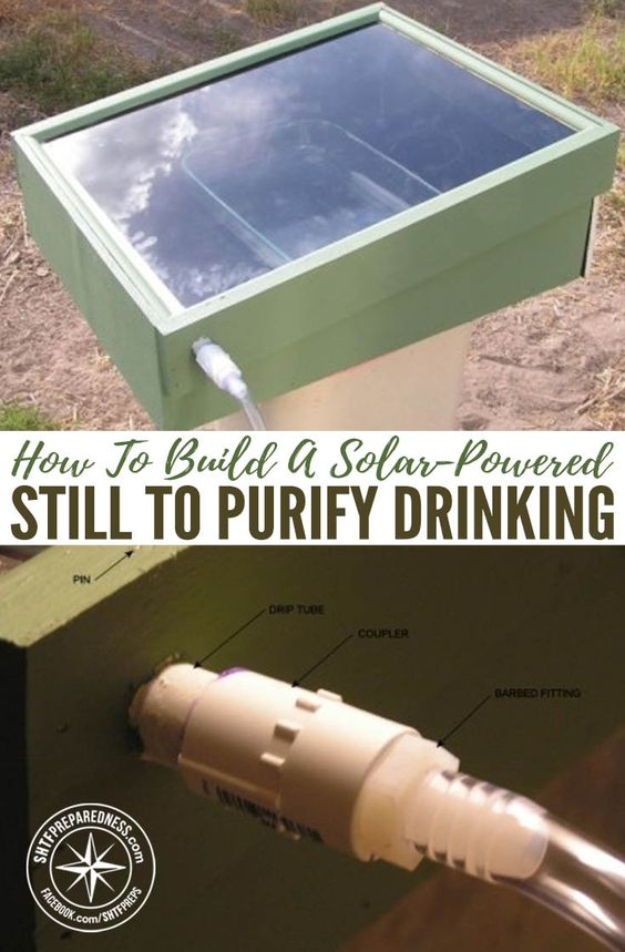 DIY Solar Powered Projects - Solar-Powered Still To Purify Drinking Water - Easy Solar Crafts and DYI Ideas for Making Solar Power Things You Can Use To Save Energy - Step by Step Tutorials for Making Things Without Batteries - DIY Projects and Crafts for Men and Women