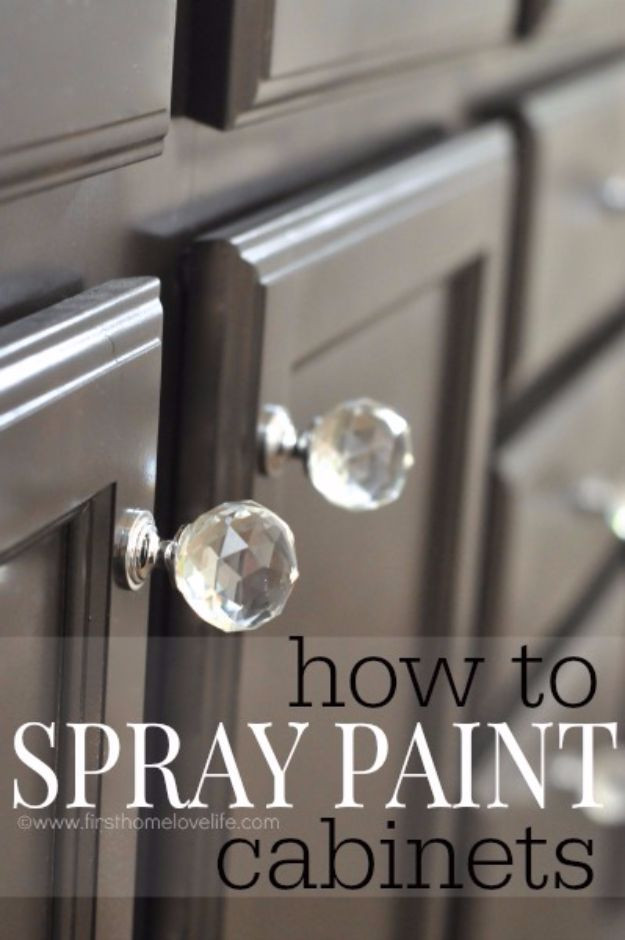 Spray Painting Tips and Tricks - Spray Painting Cabinets - Home Improvement Ideas and Tutorials for Spray Painting Furniture, House, Doors, Trim, Windows and Walls - Step by Step Tutorials and Best How To Instructions - DIY Projects and Crafts by DIY JOY #diyideas