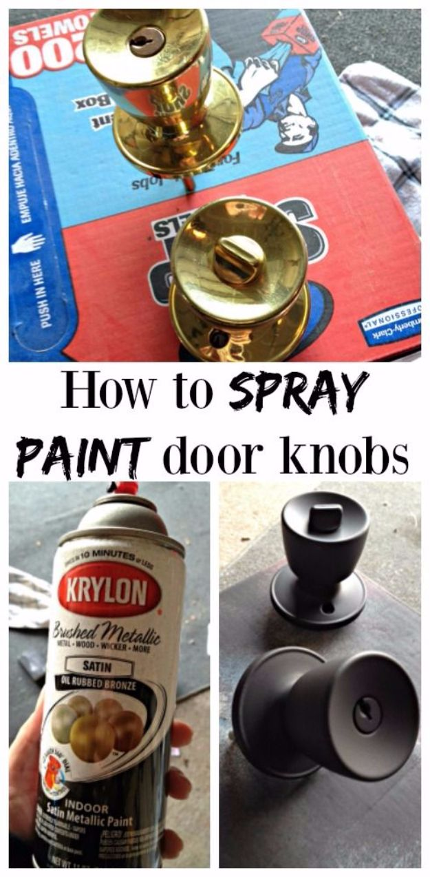 Spray Painting Tips and Tricks - Spray Painting Door Knobs - Home Improvement Ideas and Tutorials for Spray Painting Furniture, House, Doors, Trim, Windows and Walls - Step by Step Tutorials and Best How To Instructions - DIY Projects and Crafts by DIY JOY #diyideas