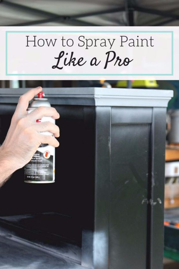 Spray Painting Tips and Tricks - Spray Paint Like A Pro - Home Improvement Ideas and Tutorials for Spray Painting Furniture, House, Doors, Trim, Windows and Walls - Step by Step Tutorials and Best How To Instructions - DIY Projects and Crafts by DIY JOY #diyideas