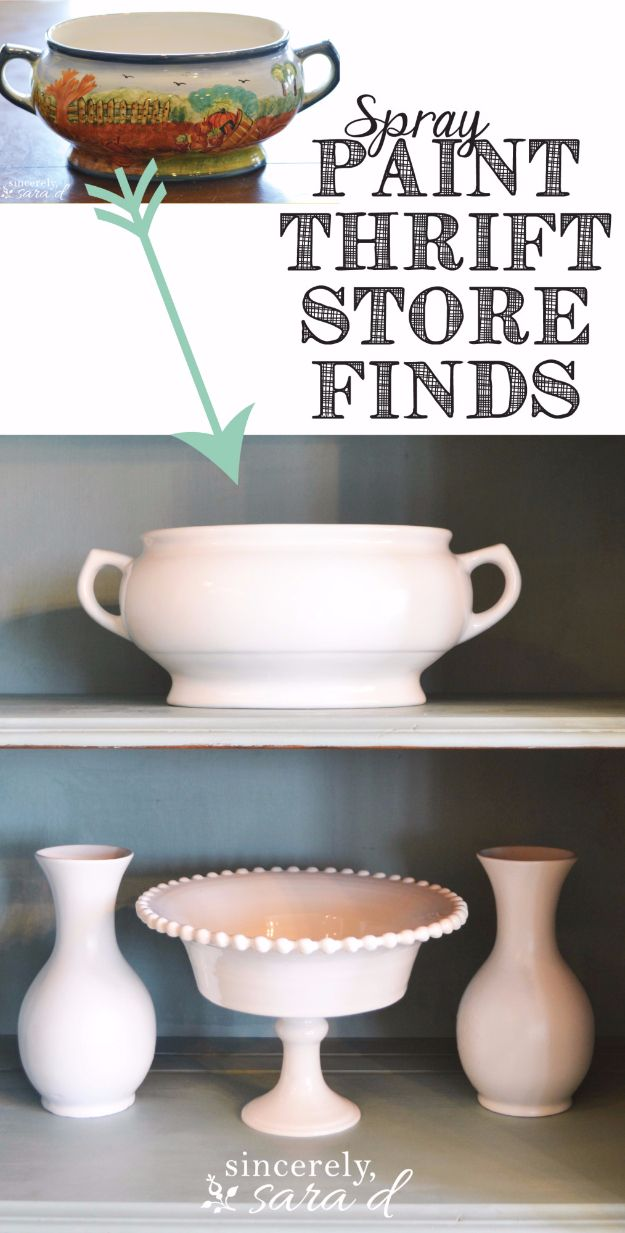 Spray Painting Tips and Tricks - Spray Painting Thrift Store Finds - Home Improvement Ideas and Tutorials for Spray Painting Furniture, House, Doors, Trim, Windows and Walls - Step by Step Tutorials and Best How To Instructions - DIY Projects and Crafts by DIY JOY #diyideas