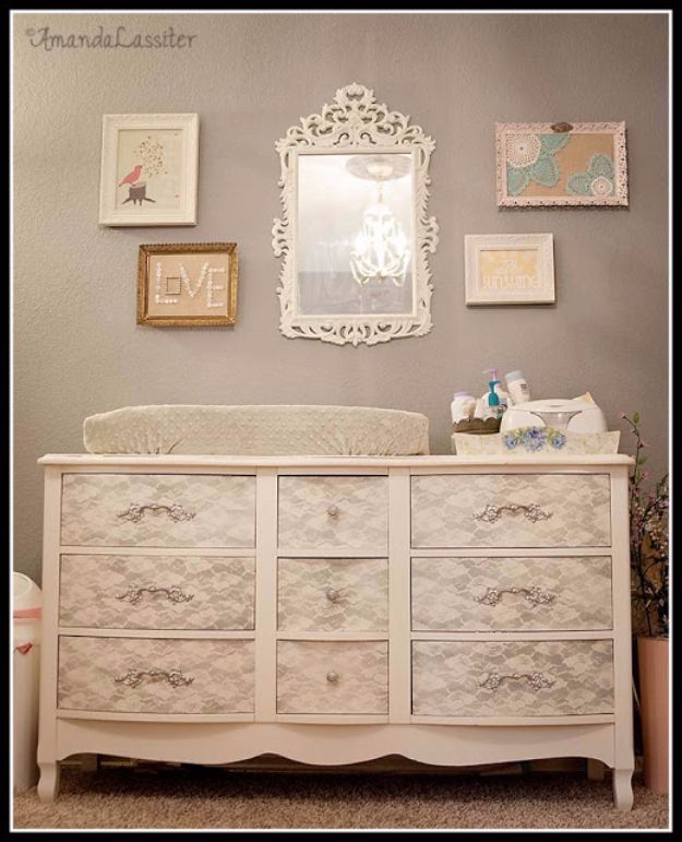 Spray Painting Tips and Tricks - Spray Paint a Vintage Nursery Dresser - Home Improvement Ideas and Tutorials for Spray Painting Furniture, House, Doors, Trim, Windows and Walls - Step by Step Tutorials and Best How To Instructions - DIY Projects and Crafts by DIY JOY #diyideas