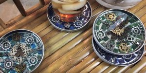 They Make These Fabulous Mosaic Steampunk Coasters That Are A Real Conversation Piece!