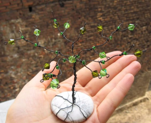 Pebble and Stone Crafts - Stone Gem Tree - DIY Ideas Using Rocks, Stones and Pebble Art - Mosaics, Craft Projects, Home Decor, Furniture and DIY Gifts You Can Make On A Budget #crafts