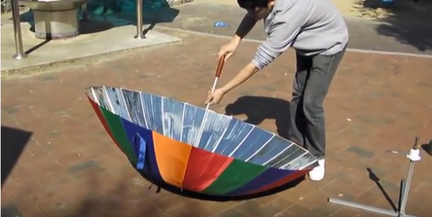 DIY Solar Powered Projects - Turn An Umbrella Into A Solar Cooker - Easy Solar Crafts and DYI Ideas for Making Solar Power Things You Can Use To Save Energy - Step by Step Tutorials for Making Things Without Batteries - DIY Projects and Crafts for Men and Women