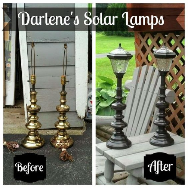DIY Solar Powered Projects - Upcycled Solar Lamps - Easy Solar Crafts and DYI Ideas for Making Solar Power Things You Can Use To Save Energy - Step by Step Tutorials for Making Things Without Batteries - DIY Projects and Crafts for Men and Women