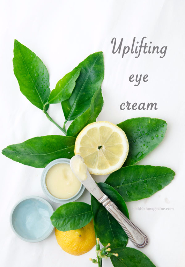 DIY Beauty Ideas and Recipes for Products You Can Make At Home - Uplifting Eye Cream - Easy Tutorials and Recipe Ideas for Face, Skin, Hair, Makeup, Lips - 3 Ingredient, Coconut Oil, Cheap Knock Offs, Baking Soda and Natural Product - Cool Homemade Gifts for Teens and Women