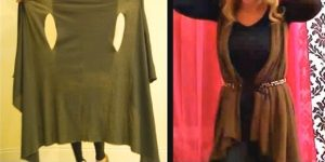 Super Easy Wrap Vest Only Takes 2 Minutes To Make! Cheap And Simple…