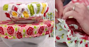 Sewing Tutorial – Washable Fabric Bowl Covers
