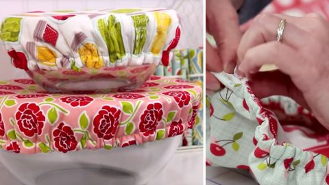 Sewing Tutorial – Washable Fabric Bowl Covers | DIY Joy Projects and Crafts Ideas