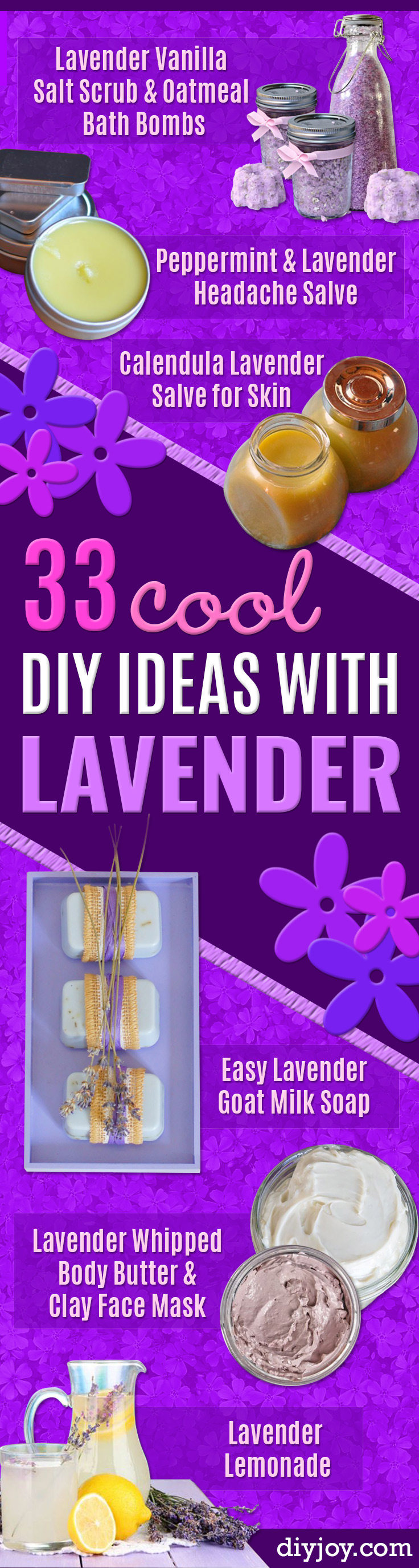 diy lavender recipes and gift Ideas to make with lavender - Food, Beauty, Baking Tutorials With Fresh and Dried Lavender - Lavender Recipe Ideas, Healthy and Vegan #lavender