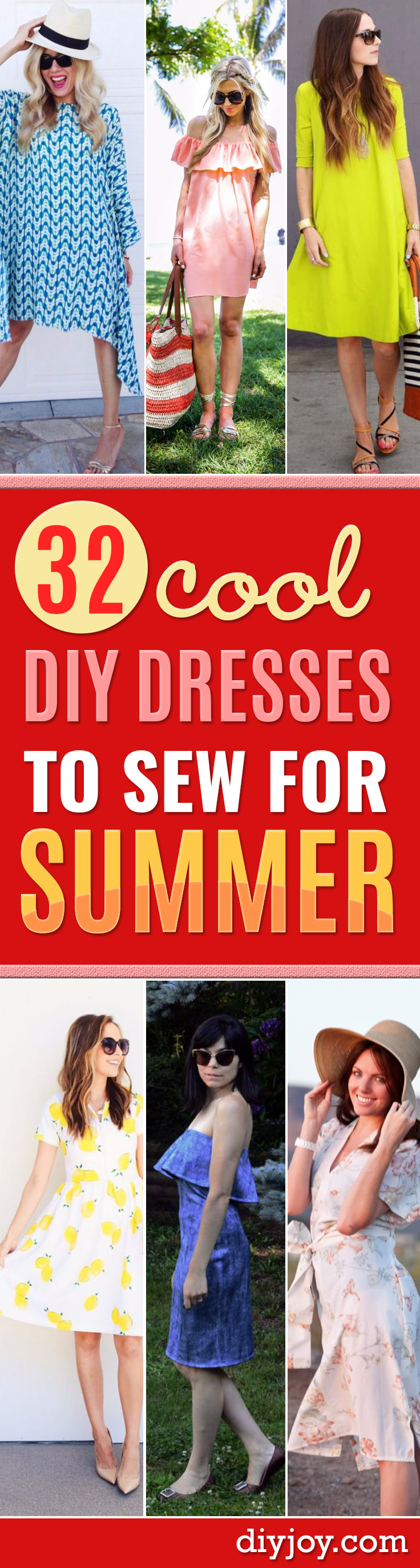 32 Creatively Cool Dresses to Sew for Summer