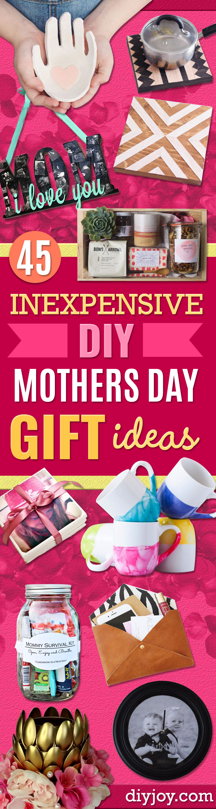 DIY Mothers Day Gift Ideas - Homemade Gifts for Moms - Crafts and Do It Yourself Home Decor, Accessories and Fashion To Make For Mom - Mothers Love Handmade Presents on Mother's Day - DIY Projects and Crafts by DIY JOY