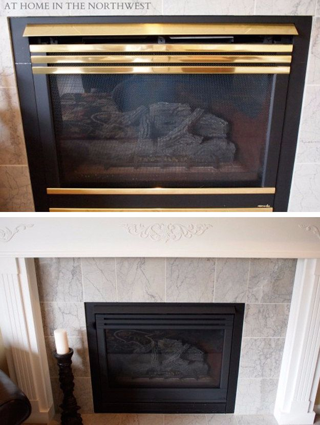DIY Home Improvement On A Budget - $5 Fireplace Makeover - Easy and Cheap Do It Yourself Tutorials for Updating and Renovating Your House - Home Decor Tips and Tricks, Remodeling and Decorating Hacks - DIY Projects and Crafts by DIY JOY #diy