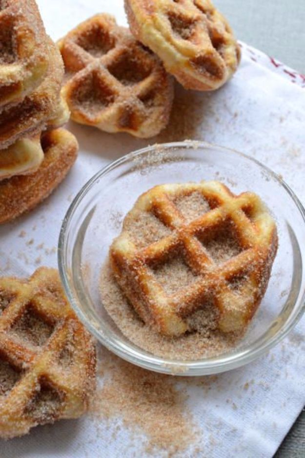 Easy Snacks You Can Make In Minutes - 5 Minute Cinnamon Sugar Waffle Bites - Quick Recipes and Tricks for Making After Workout and After School Snack - Fast Ideas for Instant Small Meals and Treats - No Bake, Microwave and Simple Prep Makes Snacking Fun #snacks #recipes