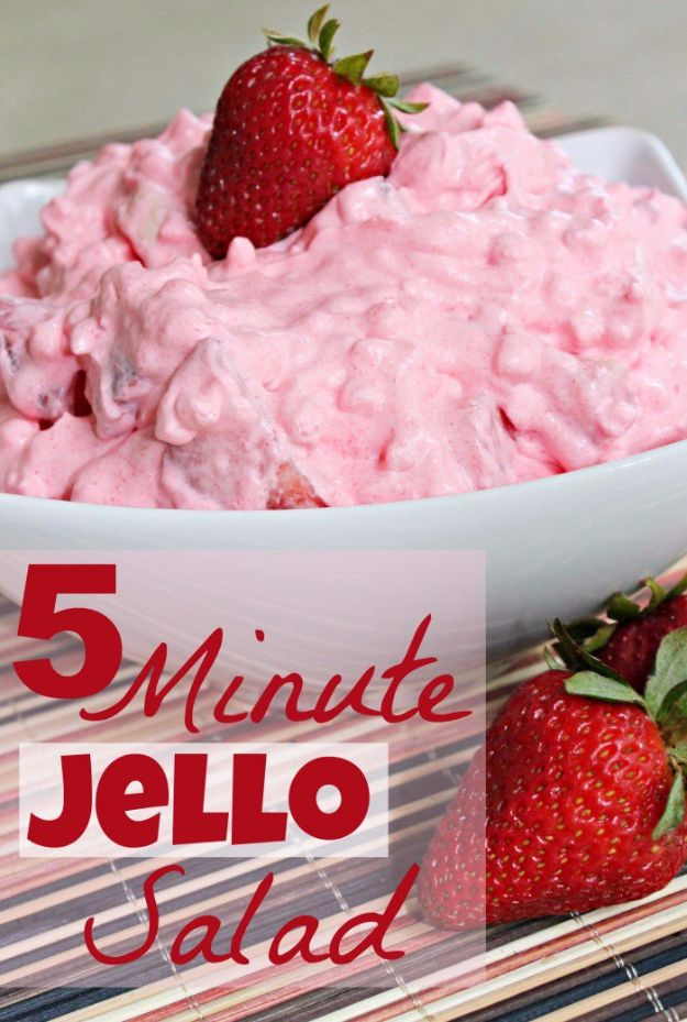 Easy Snacks You Can Make In Minutes - 5 Minute Jello Salad - Quick Recipes and Tricks for Making After Workout and After School Snack - Fast Ideas for Instant Small Meals and Treats - No Bake, Microwave and Simple Prep Makes Snacking Fun #snacks #recipes