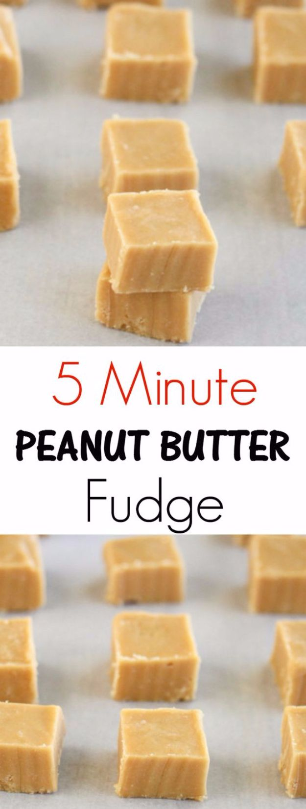 Easy Snacks You Can Make In Minutes - 5-Minute Microwave Peanut Butter FUdge - Quick Recipes and Tricks for Making After Workout and After School Snack - Fast Ideas for Instant Small Meals and Treats - No Bake, Microwave and Simple Prep Makes Snacking Fun #snacks #recipes
