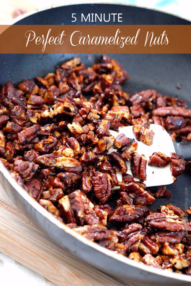 Easy Snacks You Can Make In Minutes - 5-Minute Perfect Caramelized Nuts - Quick Recipes and Tricks for Making After Workout and After School Snack - Fast Ideas for Instant Small Meals and Treats - No Bake, Microwave and Simple Prep Makes Snacking Fun #snacks #recipes