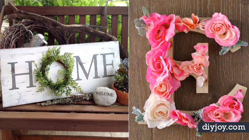 diy wall letters and word signs initials wall art for creative