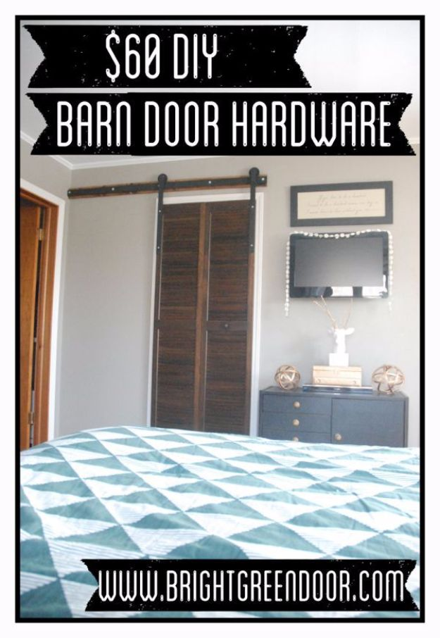 DIY Home Improvement On A Budget - $60 DIY Barn Door Hardware - Easy and Cheap Do It Yourself Tutorials for Updating and Renovating Your House - Home Decor Tips and Tricks, Remodeling and Decorating Hacks - DIY Projects and Crafts by DIY JOY http://diyjoy.com/diy-home-improvement-ideas-budget