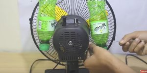 Plastic Bottles Turn a Fan Into An Air Conditioner
