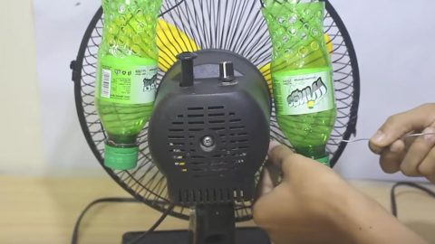 He Attaches Plastic Bottles To A Fan And The Reason Why Will Surprise You! | DIY Joy Projects and Crafts Ideas