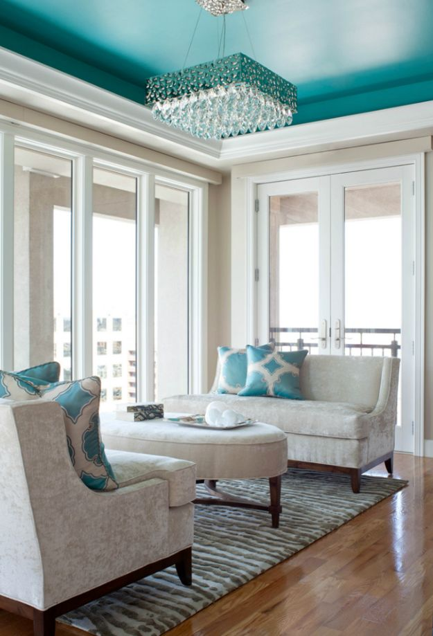DIY Home Improvement On A Budget - Add Color To Your Ceilings - Easy and Cheap Do It Yourself Tutorials for Updating and Renovating Your House - Home Decor Tips and Tricks, Remodeling and Decorating Hacks - DIY Projects and Crafts by DIY JOY http://diyjoy.com/diy-home-improvement-ideas-budget