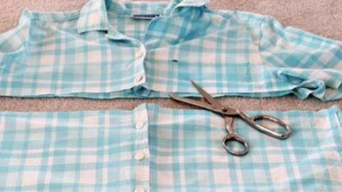 Learn How to Turn An Old Shirt Into An Apron | DIY Joy Projects and Crafts Ideas