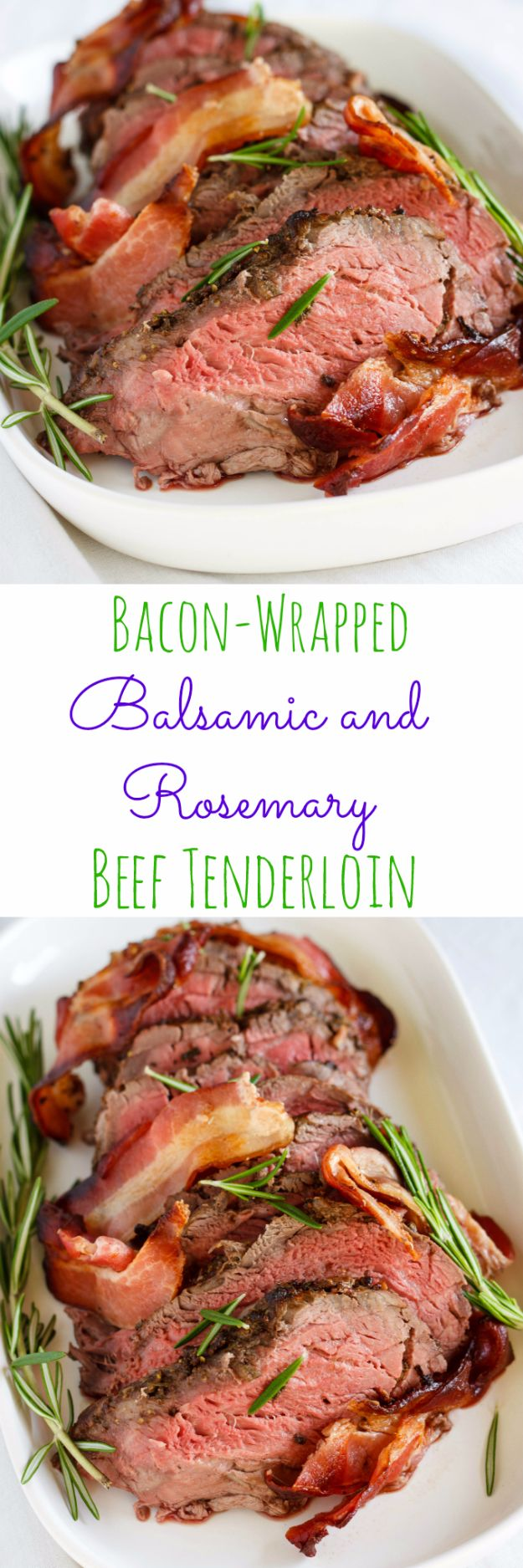 Best Easter Dinner Recipes - Bacon-Wrapped Balsamic and Rosemary Beef Tenderloin - Easy Recipe Ideas for Easter Dinners and Holiday Meals for Families - Side Dishes, Slow Cooker Recipe Tutorials, Main Courses, Traditional Meat, Vegetable and Dessert Ideas - Desserts, Pies, Cakes, Ham and Beef, Lamb - DIY Projects and Crafts by DIY JOY