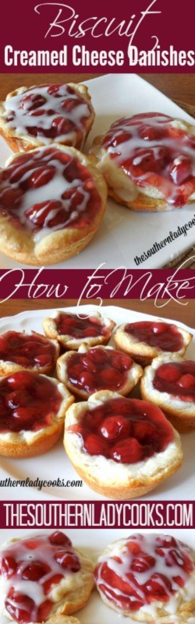 Best Canned Biscuit Recipes - Biscuit Creamed Cheese Danishes - Cool DIY Recipe Ideas You Can Make With A Can of Biscuits - Easy Breakfast, Lunch, Dinner and Desserts You Can Make From Pillsbury Pull Apart Biscuits - Garlic, Sour Cream, Ground Beef, Sweet and Savory, Ideas with Cheese - Delicious Meals on A Budget With Step by Step Tutorials
