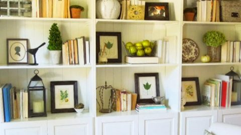 She Shows Us 5 Tips To Achieve A Professionally Arranged Look On Her Bookshelf!   DIY Joy Projects and Crafts Ideas