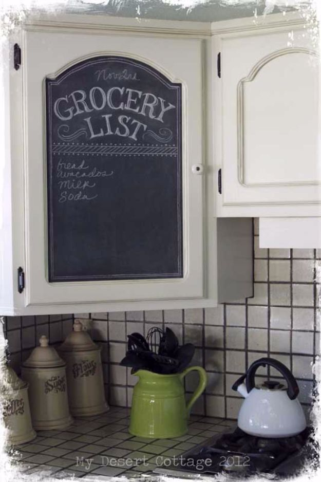 DIY Home Improvement On A Budget - Chalkboard Paint Makeover - Easy and Cheap Do It Yourself Tutorials for Updating and Renovating Your House - Home Decor Tips and Tricks, Remodeling and Decorating Hacks - DIY Projects and Crafts by DIY JOY #diy