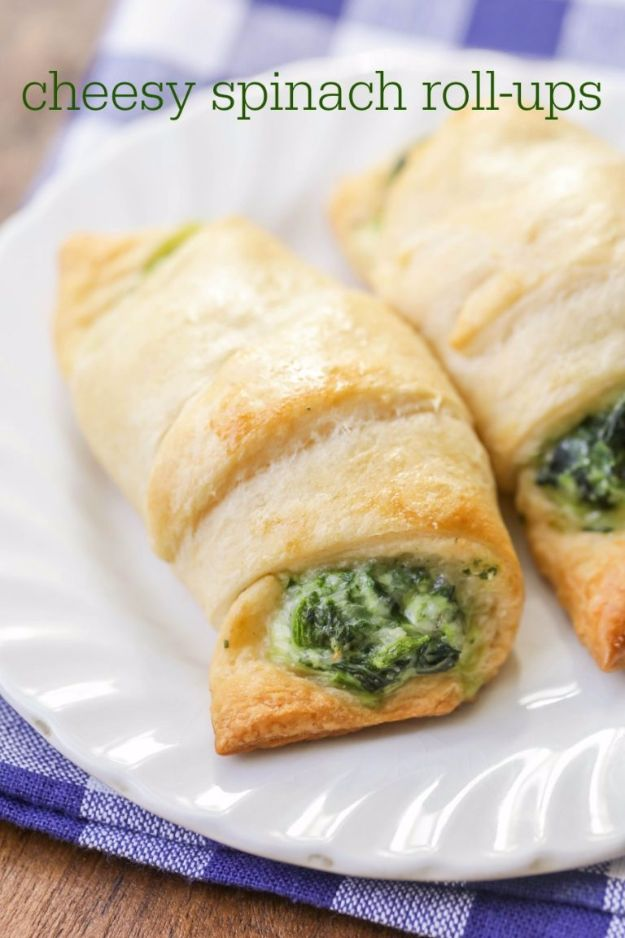 Best Easter Dinner Recipes - Cheesy Spinach Roll-Ups - Easy Recipe Ideas for Easter Dinners and Holiday Meals for Families - Side Dishes, Slow Cooker Recipe Tutorials, Main Courses, Traditional Meat, Vegetable and Dessert Ideas - Desserts, Pies, Cakes, Ham and Beef, Lamb - DIY Projects and Crafts by DIY JOY
