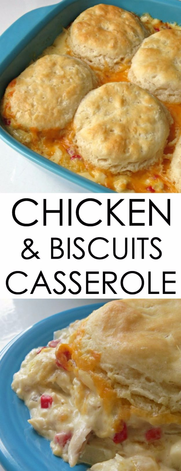 Best Canned Biscuit Recipes - Chicken & Biscuits Casserole - Cool DIY Recipe Ideas You Can Make With A Can of Biscuits - Easy Breakfast, Lunch, Dinner and Desserts You Can Make From Pillsbury Pull Apart Biscuits - Garlic, Sour Cream, Ground Beef, Sweet and Savory, Ideas with Cheese - Delicious Meals on A Budget With Step by Step Tutorials