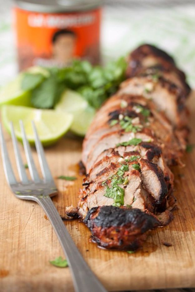 Best Easter Dinner Recipes - Chipotle Honey Lime Pork Tenderloin - Easy Recipe Ideas for Easter Dinners and Holiday Meals for Families - Side Dishes, Slow Cooker Recipe Tutorials, Main Courses, Traditional Meat, Vegetable and Dessert Ideas - Desserts, Pies, Cakes, Ham and Beef, Lamb - DIY Projects and Crafts by DIY JOY