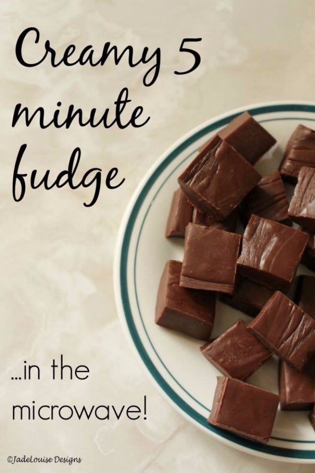 Easy Snacks You Can Make In Minutes - Creamy 5-Minute Fudge - Quick Recipes and Tricks for Making After Workout and After School Snack - Fast Ideas for Instant Small Meals and Treats - No Bake, Microwave and Simple Prep Makes Snacking Fun http://diyjoy.com/easy-snacks- recipes