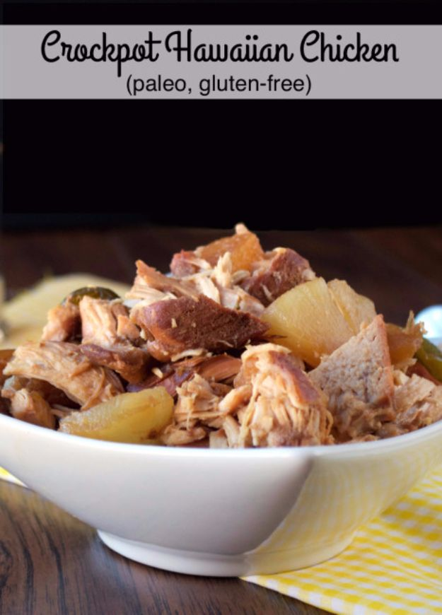 Healthy Crockpot Recipes to Make and Freeze Ahead - Crockpot Hawaiian Chicken - Easy and Quick Dinners, Soups, Sides You Make Put In The Freezer for Simple Last Minute Cooking - Low Fat Chicken, Veggies, Stews, Vegetable Sides and Beef Meals for Your Slow Cooker and Crock Pot http://diyjoy.com/healthy-crockpot-recipes