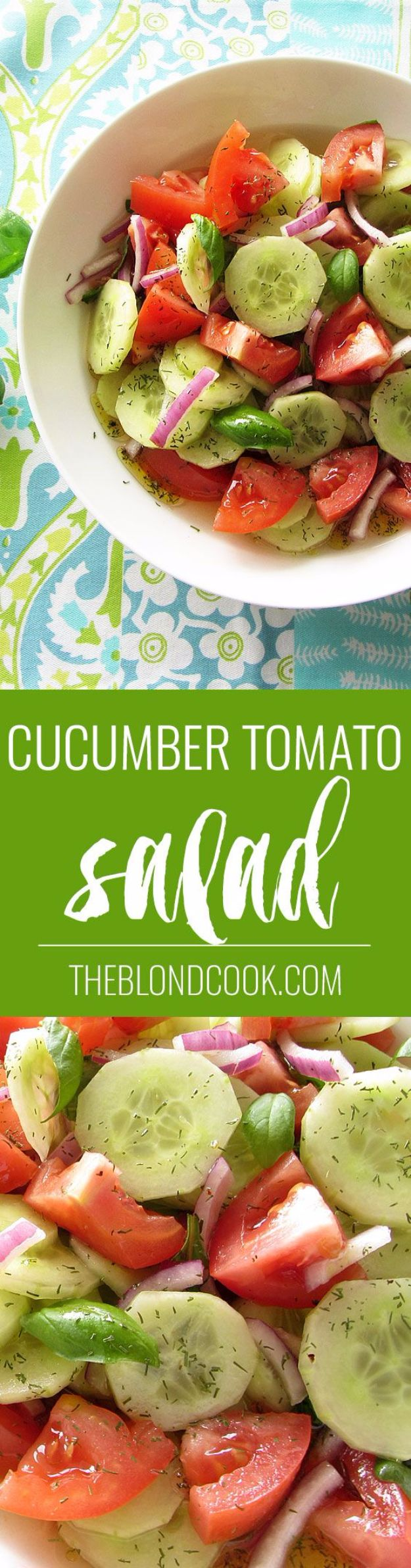 Best Easter Dinner Recipes - Cucumber Tomato Salad - Easy Recipe Ideas for Easter Dinners and Holiday Meals for Families - Side Dishes, Slow Cooker Recipe Tutorials, Main Courses, Traditional Meat, Vegetable and Dessert Ideas - Desserts, Pies, Cakes, Ham and Beef, Lamb - DIY Projects and Crafts by DIY JOY