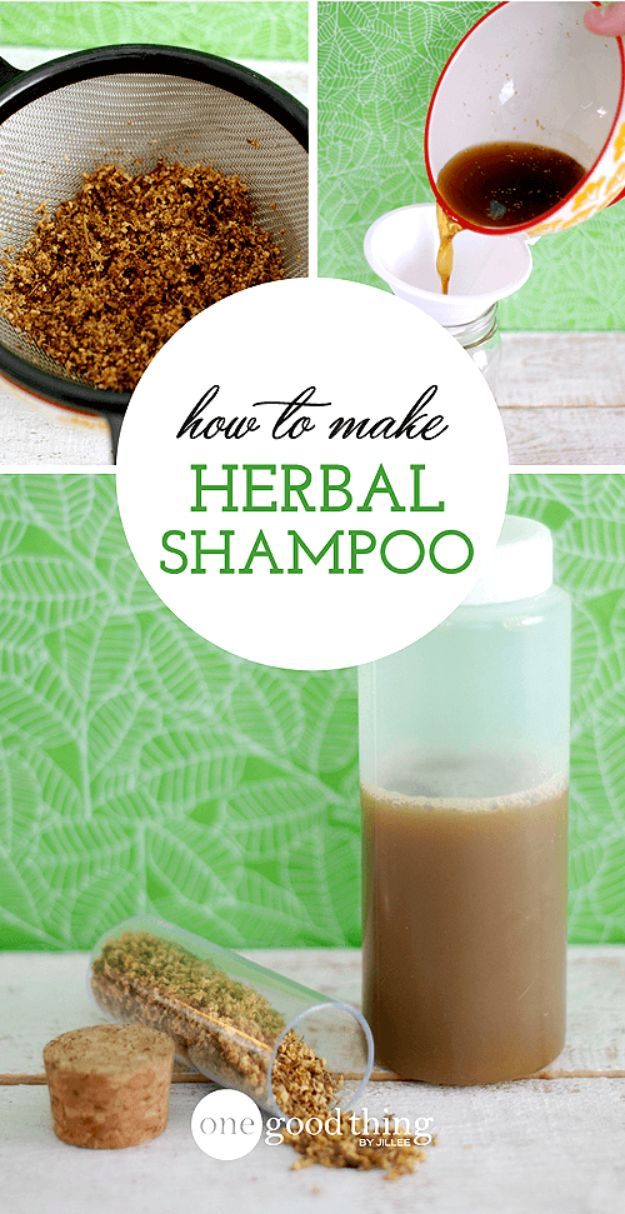 DIY Ideas with Dried Herbs - Customized Herbal Shampoo - Creative Home Decor With Easy Step by Step Tutorials for Making Herb Crafts, Projects and Recipes - Cool DIY Gift Ideas and Cheap Homemade Gifts - DIY Projects and Crafts by DIY JOY #diy #herbs #gifts