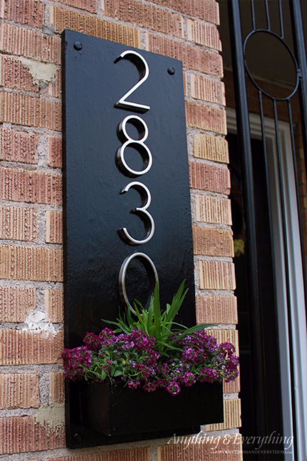35 creative diy house numbers that are better than for Front door number plaques