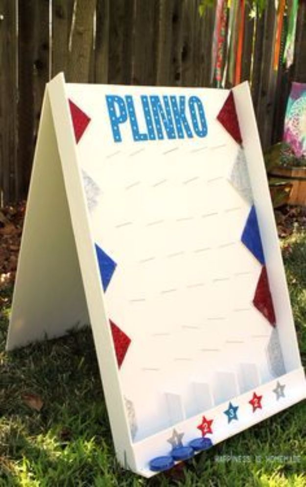 Best DIY Backyard Games - DIY Backyard Plinko Game - Cool DIY Yard Game Ideas for Adults, Teens and Kids - Easy Tutorials for Cornhole, Washers, Jenga, Tic Tac Toe and Horseshoes - Cool Projects for Outdoor Parties and Summer Family Fun Outside #diy #backyard #kids #games